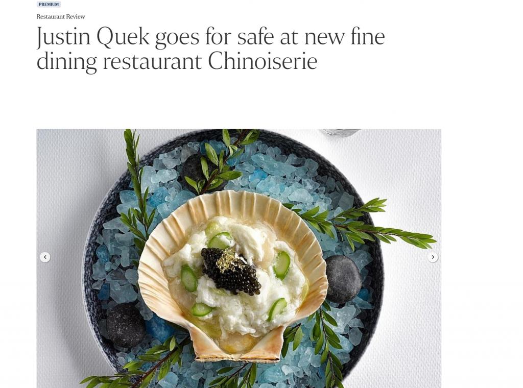 Justin Quek New Restaurant